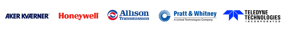 Aker Kvaerner, Honeywell, Allison Transmission, Pratt & Whitney, Teledyne Technologies
